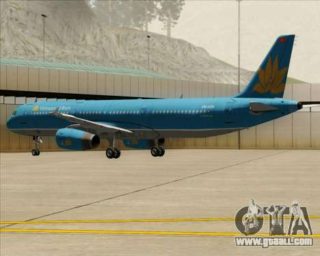 Airbus A321-200 Vietnam Airlines for GTA San Andreas wheels