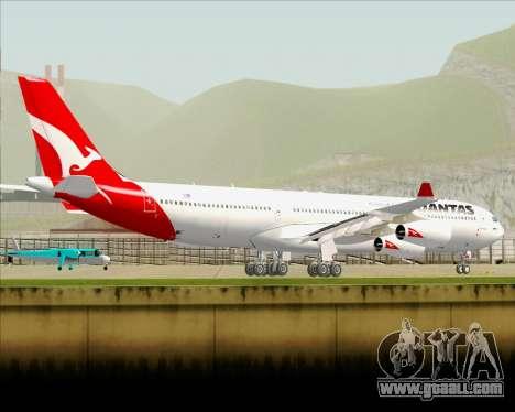 Airbus A340-300 Qantas for GTA San Andreas bottom view