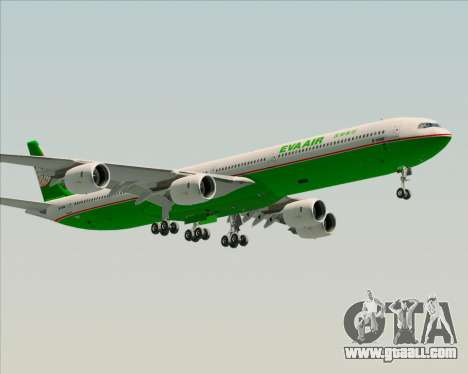 Airbus A340-600 EVA Air for GTA San Andreas side view