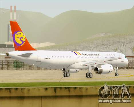 Airbus A321-200 TransAsia Airways for GTA San Andreas right view