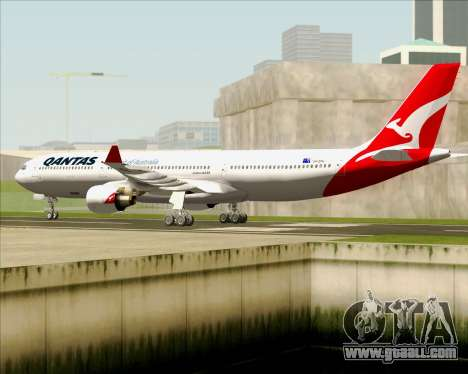 Airbus A330-300 Qantas (New Colors) for GTA San Andreas back view