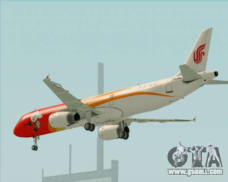 Airbus A321-200 Air China (Beautiful Sichuan) for GTA San Andreas upper view