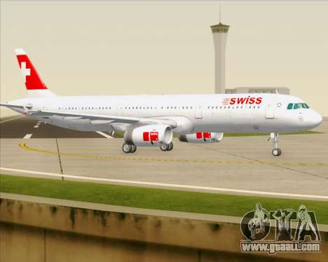 Airbus A321-200 Swiss International Air Lines for GTA San Andreas upper view