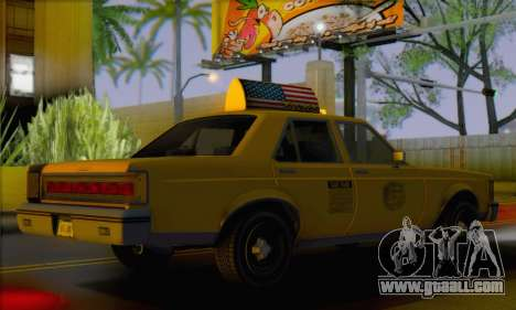 Willard Marbelle Taxi Saints Row Style for GTA San Andreas left view
