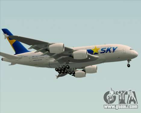 Airbus A380-800 Skymark Airlines for GTA San Andreas right view