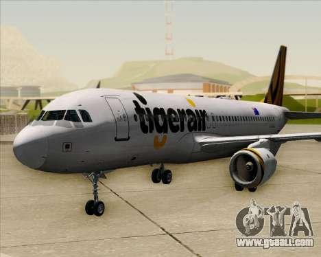 Airbus A320-200 Tigerair Australia for GTA San Andreas back view