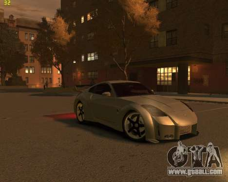 Nissan 350Z for GTA 4 right view