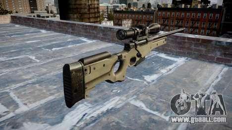 Sniper rifle L96A1 Magnum for GTA 4 second screenshot