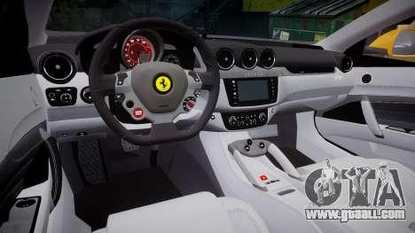 Ferrari FF 2012 Pininfarina Yellow for GTA 4 inner view