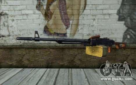 The Machine Gun Kalashnikov Modernized for GTA San Andreas