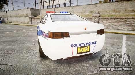 GTA V Cheval Fugitive LS Liberty Police [ELS] for GTA 4 back left view