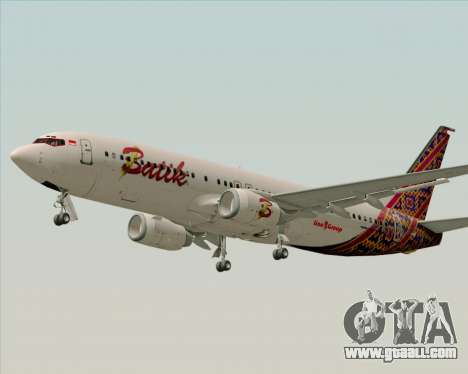 Boeing 737-800 Batik Air for GTA San Andreas inner view