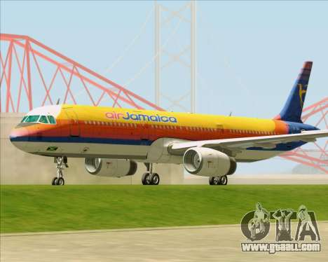 Airbus A321-200 Air Jamaica for GTA San Andreas left view