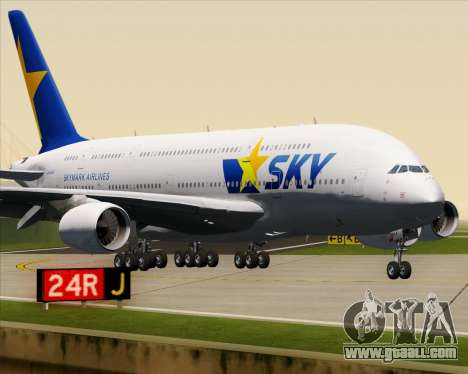 Airbus A380-800 Skymark Airlines for GTA San Andreas upper view
