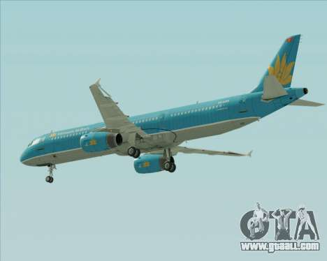 Airbus A321-200 Vietnam Airlines for GTA San Andreas bottom view