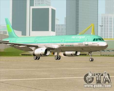 Airbus A321-200 Aer Lingus for GTA San Andreas bottom view