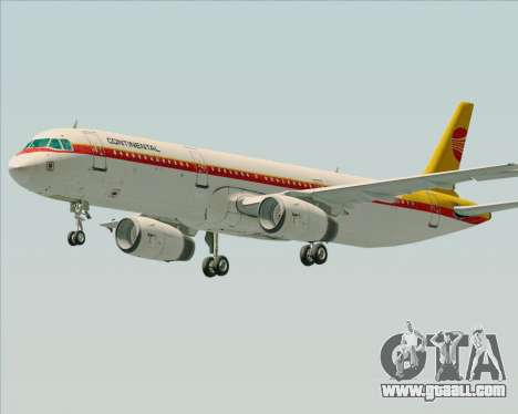 Airbus A321-200 Continental Airlines for GTA San Andreas left view