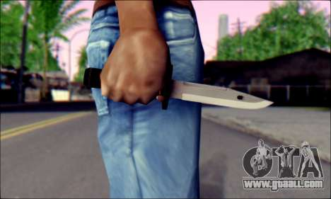 Knife from Death to Spies 3 for GTA San Andreas third screenshot