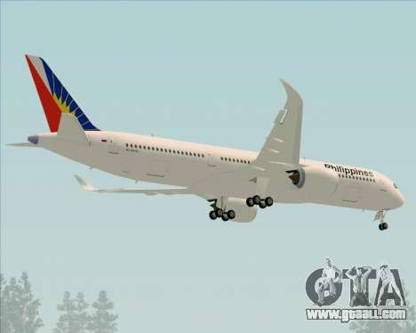 Airbus A350-900 Philippine Airlines for GTA San Andreas upper view