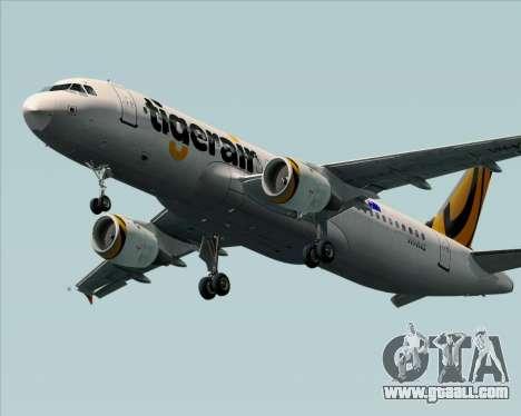 Airbus A320-200 Tigerair Australia for GTA San Andreas back left view