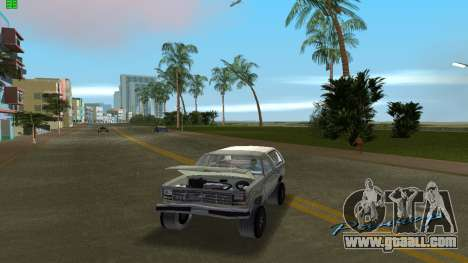 Ford Bronco 1985 for GTA Vice City right view