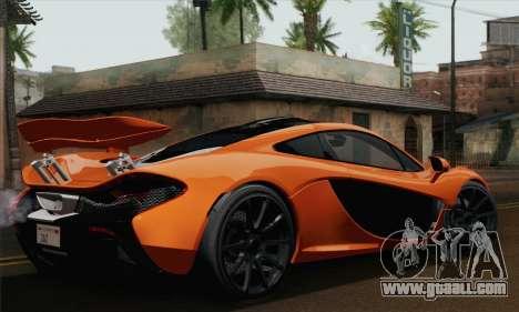 McLaren P1 Black Revel for GTA San Andreas left view