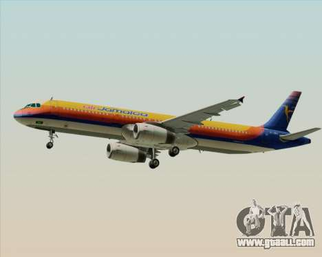 Airbus A321-200 Air Jamaica for GTA San Andreas right view