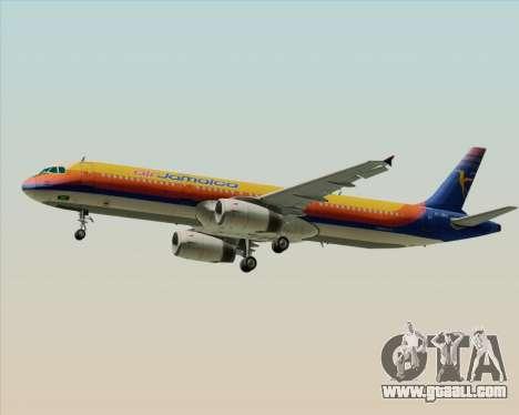 Airbus A321-200 Air Jamaica for GTA San Andreas right view