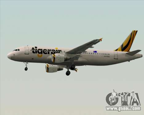Airbus A320-200 Tigerair Australia for GTA San Andreas bottom view