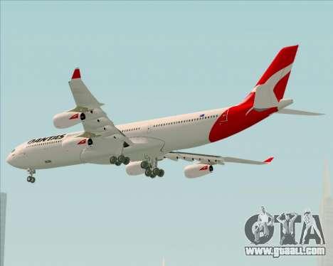 Airbus A340-300 Qantas for GTA San Andreas back view