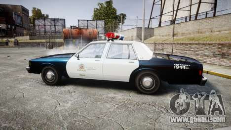 Chevrolet Impala 1985 LAPD [ELS] for GTA 4 left view