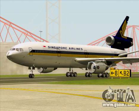 McDonnell Douglas DC-10-30 Singapore Airlines for GTA San Andreas left view