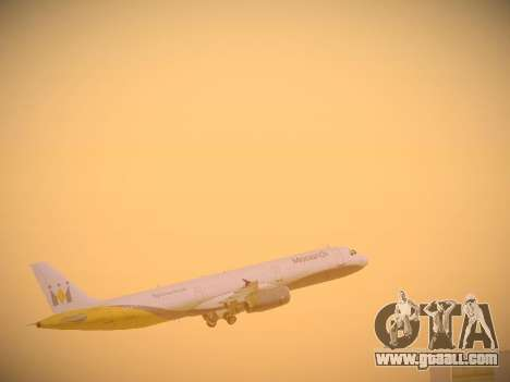 Airbus A321-232 Monarch Airlines for GTA San Andreas engine