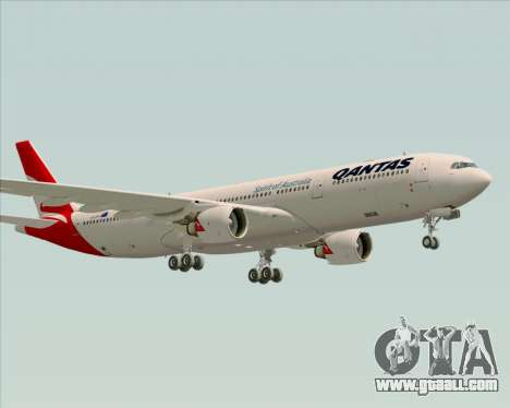 Airbus A330-300 Qantas (New Colors) for GTA San Andreas back left view