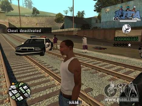 C-HUD Rifa for GTA San Andreas second screenshot