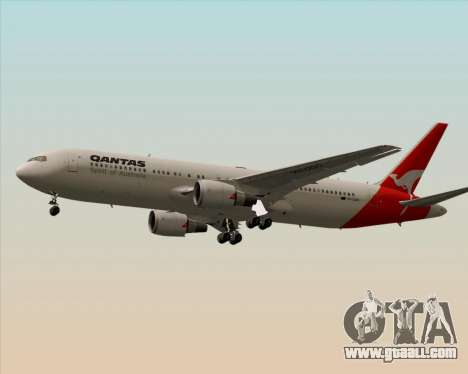 Boeing 767-300ER Qantas (Old Colors) for GTA San Andreas back left view