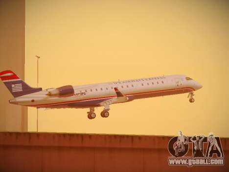 Bombardier CRJ-700 US Airways Express for GTA San Andreas upper view