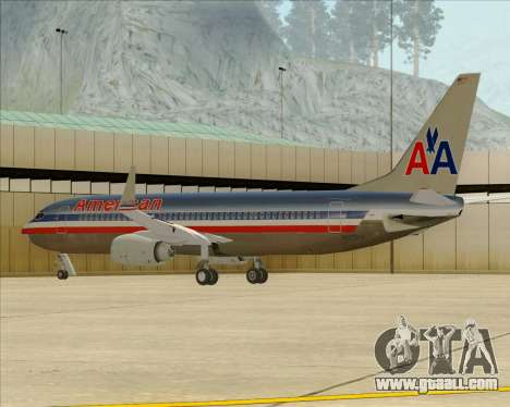 Boeing 737-800 American Airlines for GTA San Andreas wheels