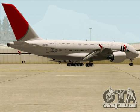 Airbus A380-800 Japan Airlines (JAL) for GTA San Andreas inner view