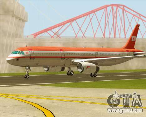 Airbus A321-200 LTU International for GTA San Andreas side view