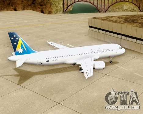 Airbus A320-200 Ansett Australia for GTA San Andreas upper view