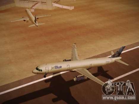 Airbus A321-232 jetBlue Do-be-do-be-blue for GTA San Andreas side view
