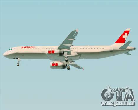 Airbus A321-200 Swiss International Air Lines for GTA San Andreas side view