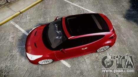 Hyundai Veloster Turbo 2012 for GTA 4 right view