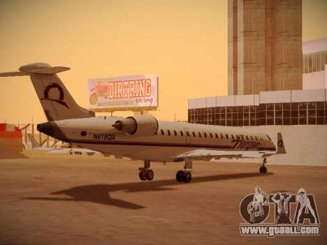 Bombardier CRJ-700 Horizon Air for GTA San Andreas upper view