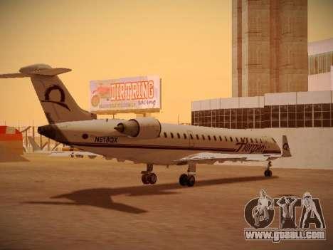 Bombardier CRJ-700 Horizon Air for GTA San Andreas upper view