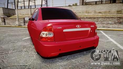 VAZ-2170 Priora alloy wheels for GTA 4 back left view