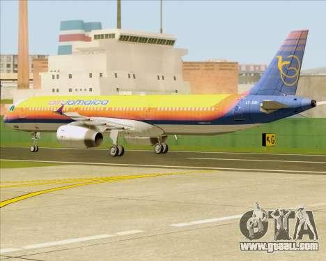 Airbus A321-200 Air Jamaica for GTA San Andreas back view