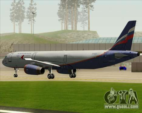 Airbus A321-200 Aeroflot - Russian Airlines for GTA San Andreas side view