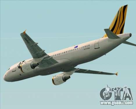 Airbus A320-200 Tigerair Australia for GTA San Andreas inner view